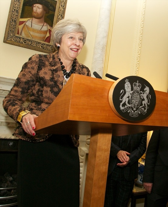Prime Minister May addresses councillors in Downing Street