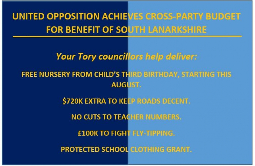 Conservatives South Lanarkshire budget